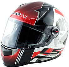 Integral helmet LS2 FF396, white/red, S