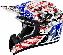 Airoh cr901 patriot Off Road Helmet, blue/red, M