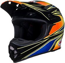BELL MX-2 Tagger Transition Off Road Helmet, orange/blue, XL