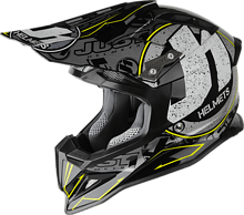 Just1 J12 Stamp Off Road Helmet, black/grey/yellow, M