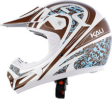 Kali AATMA Off Road Helmet, white/brown, M