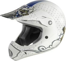 Kali Mantra Off Road Helmet, white/blue, M