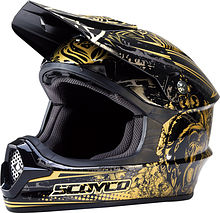 Scoyco MHM001 Off Road Helmet, gold, M
