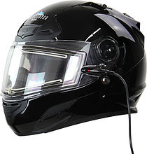 Snow Master TS-44 Snowmobile Helmet, black, S