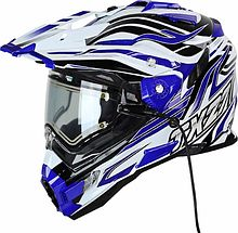 Snow Master TX-27 Snowmobile Helmet, blue, L
