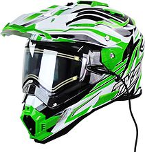 Snow Master TX-27 Snowmobile Helmet, green, L