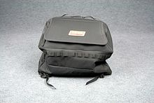 Back bag for ATV Quadboss, black