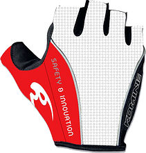 Komine GKC-003 Cycling gloves, white/red, M