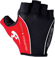Komine GKC-003 Cycling gloves, black/red, M