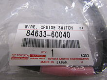 Wire, cruise control switch