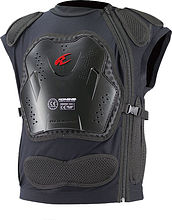 Komine SK-698 Body armored vest, black, XL